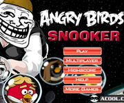 Y8, A10 Angry Birds Snooker Game