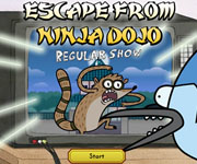 Regular Show Escape From Ninja Dojo