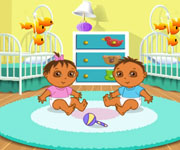 Dora Playtime With The Twins