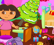 Dora Christmas Room Clean