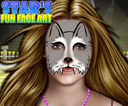 Stars Fun Face Art