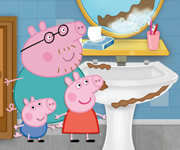 Peppa Pig Cleaning Bathroom